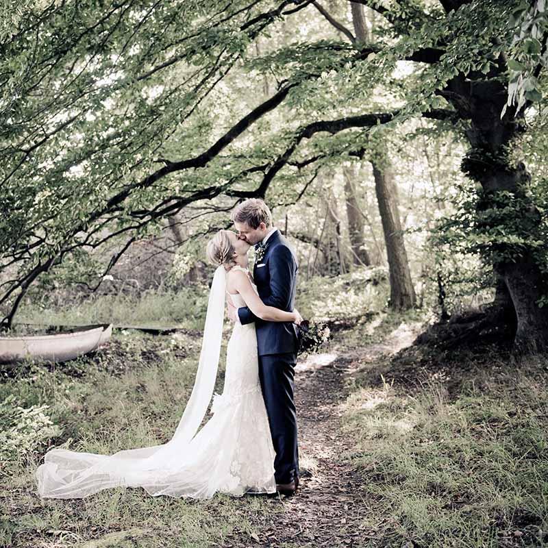 brudepar i Naturen i Vejle