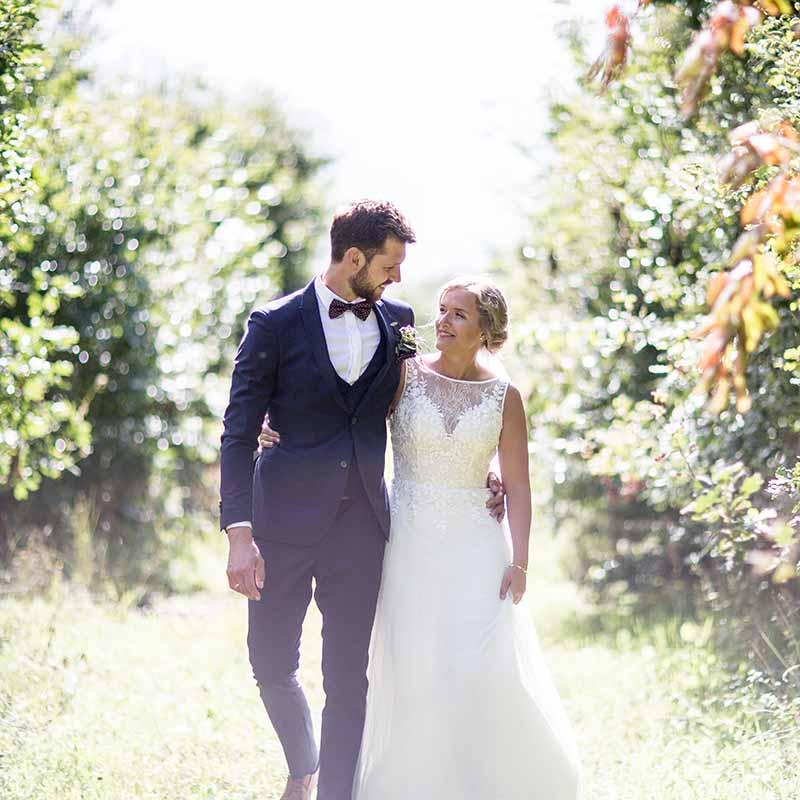 brudeparret i skoven ved Fredericia