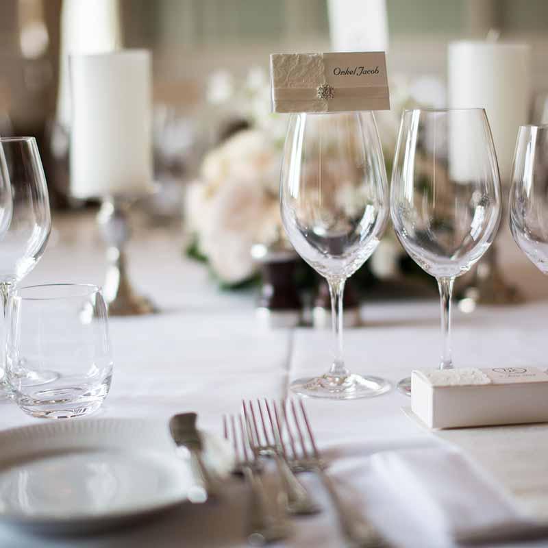 bord ved bryllup ved Munkebjerg