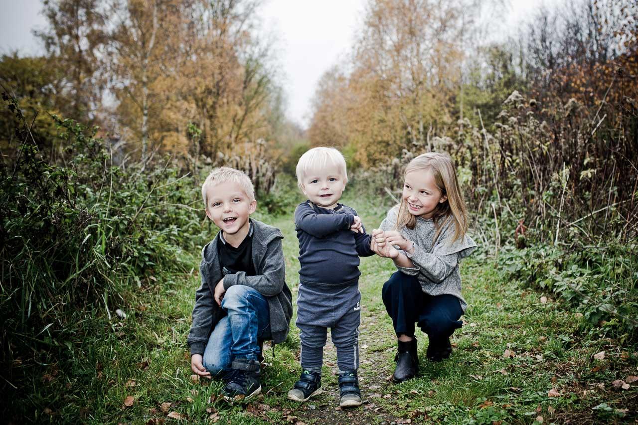 Børne og familieportræt i Vejle